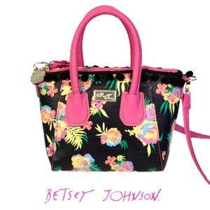 Betsey Johnson Floral Crossbody Convertible Bag.